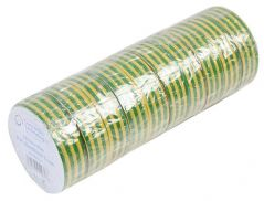 CONCORDIA TECHNOLOGIES AIT1933G/Y  Insulation Tape Grn/Yel 19Mm X 33M 10/Pk